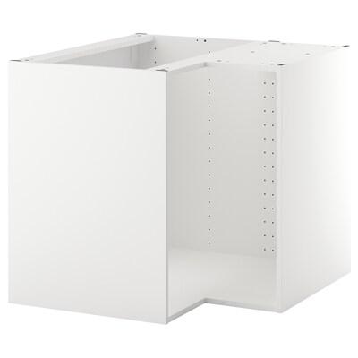 METOD Kulmapöytäkaapin runko, valkoinen, 88x88x80 cm
