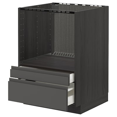 METOD / MAXIMERA pöytäkaappi yhduun/laatikot musta/Voxtorp tummanharmaa 60.0 cm 62.1 cm 88.0 cm 60.0 cm 80.0 cm