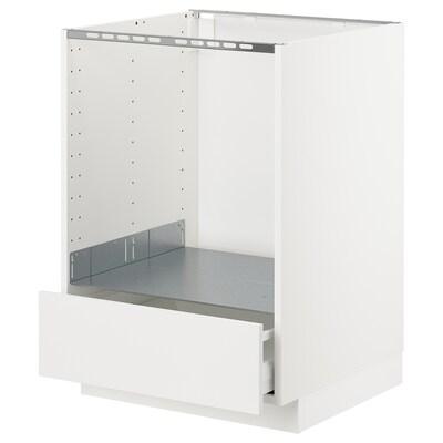 METOD / MAXIMERA pöytäkaappi uunille/lt valkoinen/Häggeby valkoinen 60.0 cm 61.6 cm 88.0 cm 60.0 cm 80.0 cm