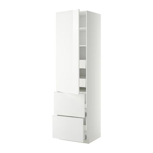 Ikea Malm Upholstered Headboard ~ METOD  MAXIMERA Korkea kaappi, hyllyt 4lt ov 2esrj IKEA Vaimentimien