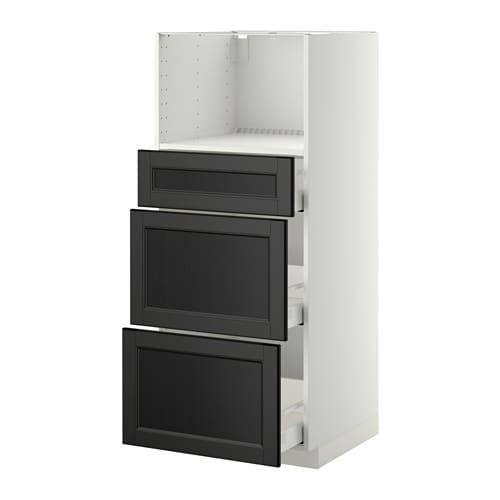 Ikea Malm Upholstered Headboard ~ METOD  MAXIMERA Korkea kaappi mikrolle 3 laatikkoa IKEA Vaimentimien