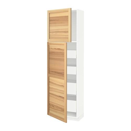 METOD  MAXIMERA Korkea kaappi+2 ovea 4 laat  valkoinen