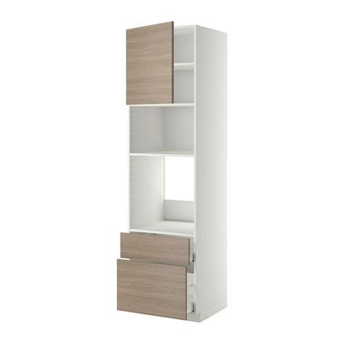 METOD  MAXIMERA Korkea kaappi uun mikr ovi 2lt  60x60x220 cm, valkoinen, Br