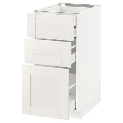 METOD / MAXIMERA Pöytäkaap 3 esrj/2 ma/1 ke/1 ko lt, valkoinen/Sävedal valkoinen, 40x60 cm