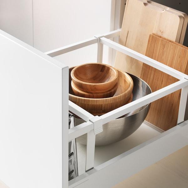 METOD / MAXIMERA Pöytäkaappi 2 etusrj/2 ko laatikkoa, valkoinen/Veddinge harmaa, 40x60 cm