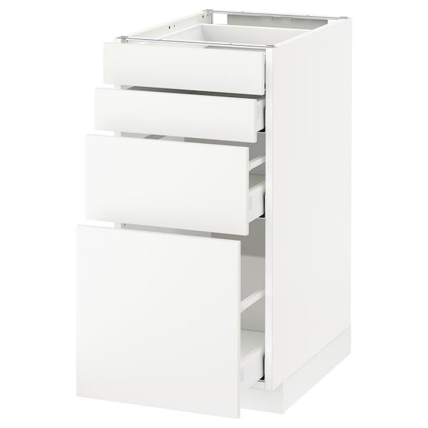 METOD / MAXIMERA Pöytäkaappi 4 etusrj/4 laatikkoa, valkoinen/Häggeby valkoinen, 40x60 cm