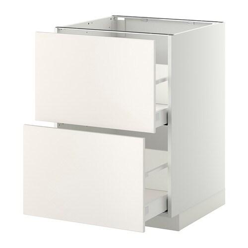 metod maximera p yt kaappi 2 etusrj 2 ko laatikkoa valkoinen veddinge valkoinen 60x60 cm. Black Bedroom Furniture Sets. Home Design Ideas