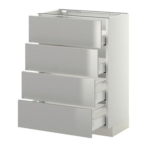 METOD  MAXIMERA Pöytäkaappi 4 etusrj 4 laatikkoa