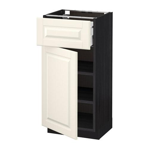 METOD  MAXIMERA Pöytäkaappi + laatikko ovi  puukuvioitu musta, Bodbyn luonn