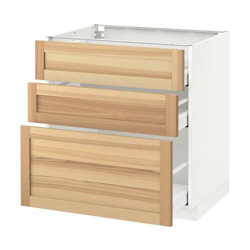 METOD  MAXIMERA Pöytäkaappi + 3 laatikkoa  valkoinen