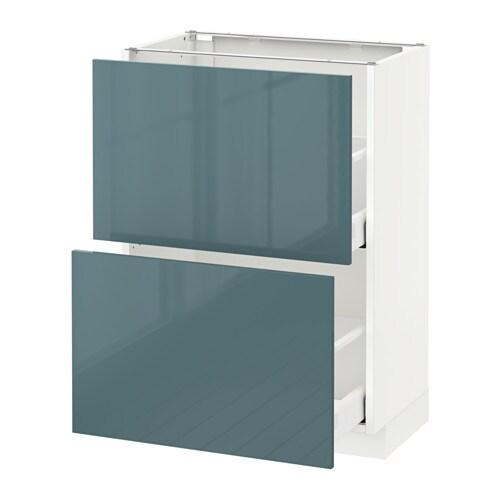 METOD  MAXIMERA Pöytäkaappi + 2 laatikkoa  valkoinen, Kallarp korkeakiilto