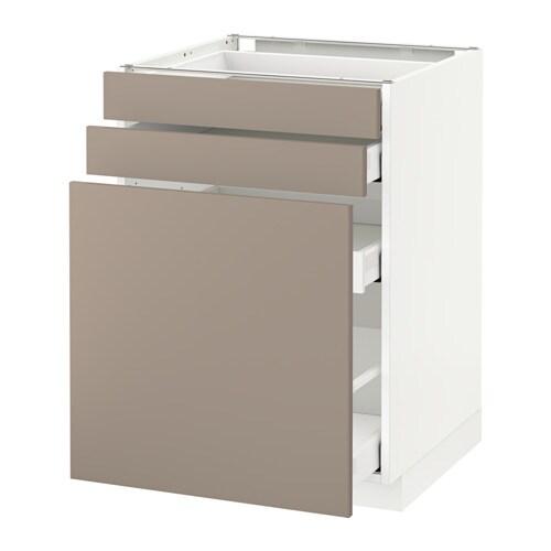 METOD  MAXIMERA Pöytäkaappi ulos ved säil 2 srj  valkoinen, Ubbalt tumma be
