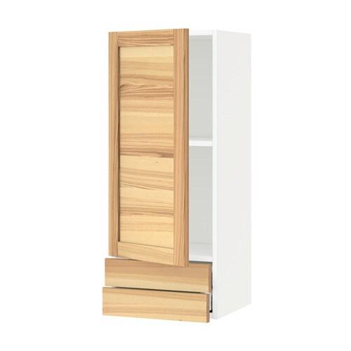 METOD  MAXIMERA Seinäkaappi ovi 2 laatikkoa  valkoinen