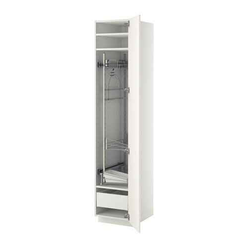 metod maximera siivouskaappi 40x60x200 cm valkoinen veddinge valkoinen ikea. Black Bedroom Furniture Sets. Home Design Ideas