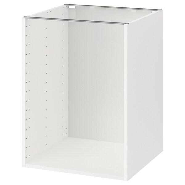 METOD Pöytäkaapin runko, valkoinen, 60x60x80 cm
