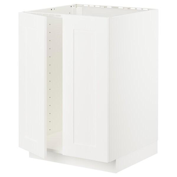 METOD Pöytäkaappi altaalle + 2 ovea, valkoinen/Sävedal valkoinen, 60x60 cm