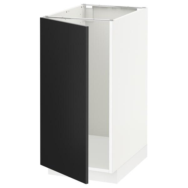 METOD Pöytäkaappi altaalle/jätelaj, valkoinen/Uddevalla antrasiitti, 40x60 cm