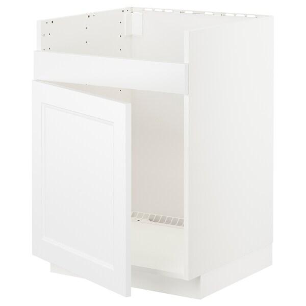 METOD Pöytäkaappi HAVSEN-altaalle, valkoinen/Axstad matta valkoinen, 60x60 cm