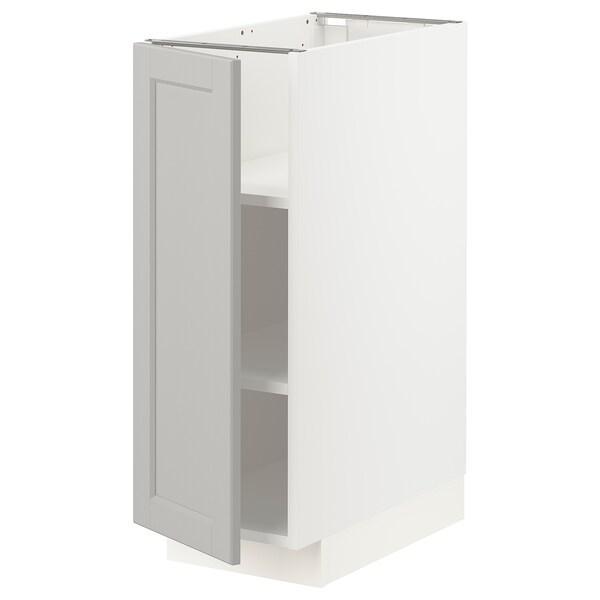 METOD Pöytäkaappi ja hyllyt, valkoinen/Lerhyttan vaaleanharmaa, 30x60 cm
