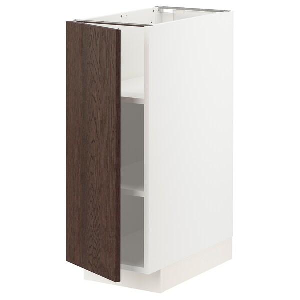 METOD Pöytäkaappi ja hyllyt, valkoinen/Sinarp ruskea, 30x60 cm