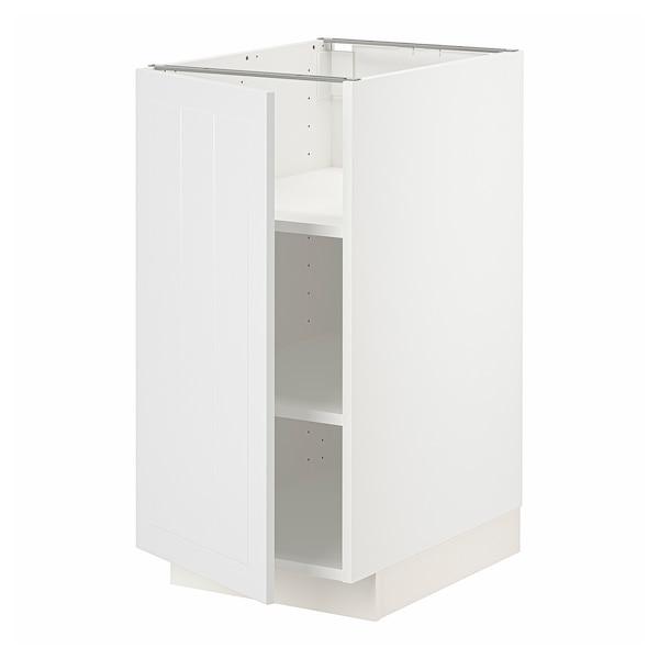 METOD Pöytäkaappi ja hyllyt, valkoinen/Stensund valkoinen, 40x60 cm