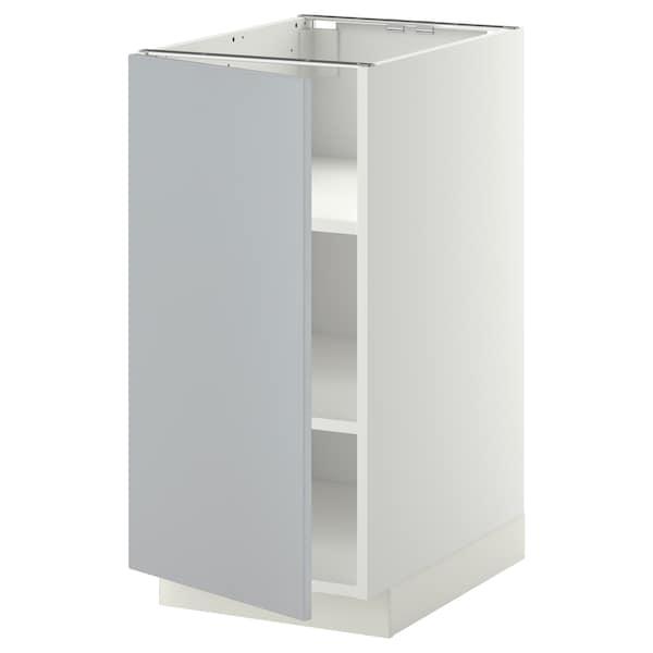METOD Pöytäkaappi ja hyllyt, valkoinen/Veddinge harmaa, 40x60 cm