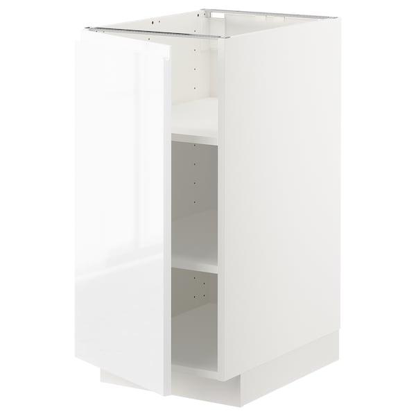 METOD Pöytäkaappi ja hyllyt, valkoinen/Voxtorp korkeakiilto/valkoinen, 40x60 cm
