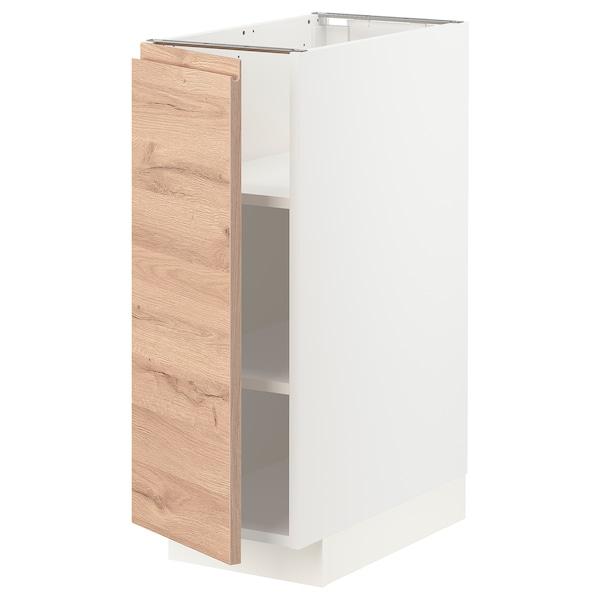 METOD Pöytäkaappi ja hyllyt, valkoinen/Voxtorp tammikuvio, 30x60 cm