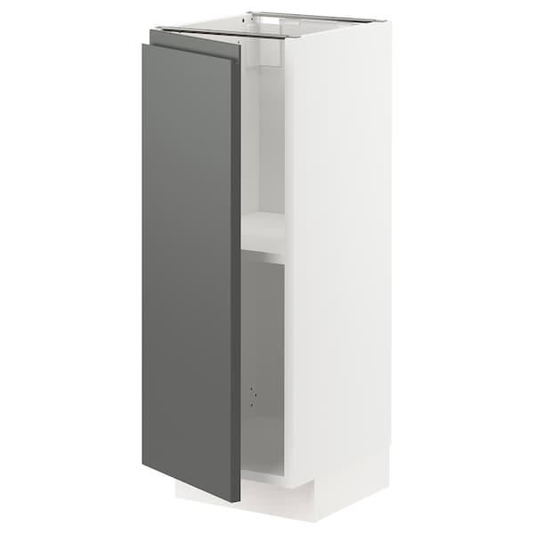 METOD Pöytäkaappi ja hyllyt, valkoinen/Voxtorp tummanharmaa, 30x37 cm