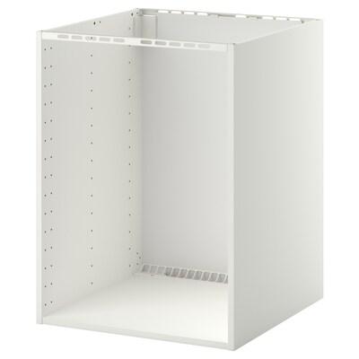 METOD Pöytäkaappi upot uunille/altaalle, valkoinen, 60x60x80 cm
