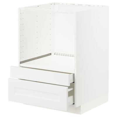 METOD Pöytäkaappi yhduun/laatikot, valkoinen/Axstad matta valkoinen, 60x60 cm