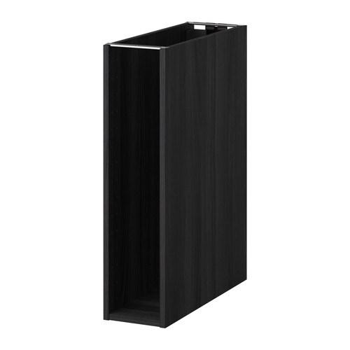 METOD Pöytäkaapin runko  puukuvioitu musta, 20x60x80 cm  IKEA