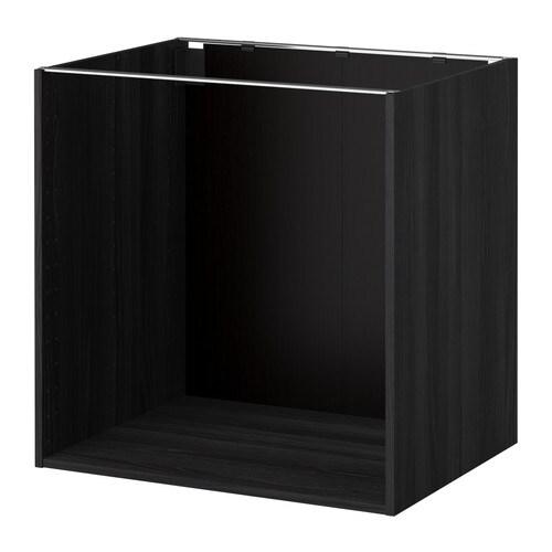 METOD Pöytäkaapin runko  puukuvioitu musta, 80x60x80 cm  IKEA
