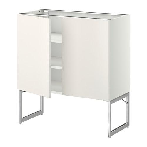 METOD Pöytäkaappi+hyllylevy 2 ov  Veddinge valkoinen