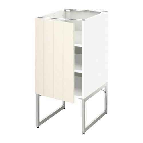 METOD Pöytäkaappi+hyllylevy  Hittarp luonnonvalkoinen, 40x60x60 cm  IKEA