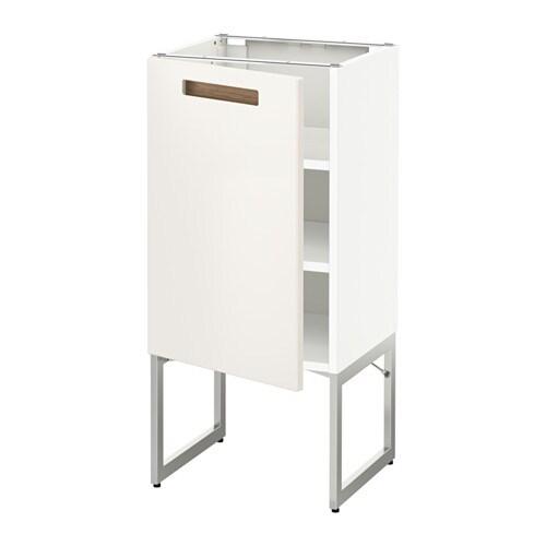 METOD Pöytäkaappi+hyllylevy  Märsta valkoinen, 40x37x60