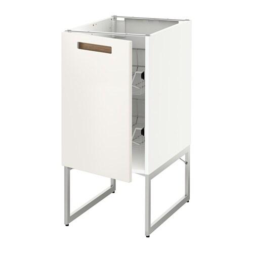 METOD Pöytäkaappi+ritiläkorit  Märsta valkoinen, 40x60x60