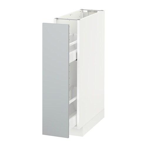 METOD Pöytäkaappi + ulos ved sisusteet  valkoinen, Veddinge harmaa  IKEA