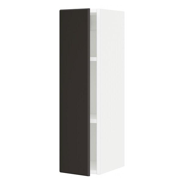 METOD Seinäkaappi hyllyillä, valkoinen/Kungsbacka antrasiitti, 20x80 cm