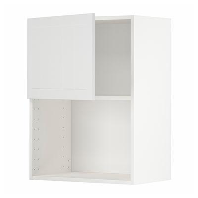 METOD Seinäkaappi mikroaaltouunille, valkoinen/Stensund valkoinen, 60x80 cm