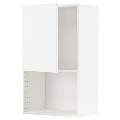 METOD Seinäkaappi mikroaaltouunille, valkoinen/Veddinge valkoinen, 60x100 cm