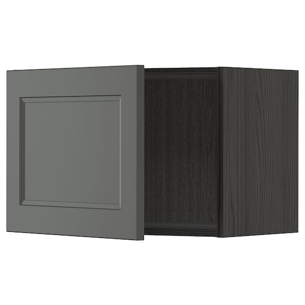 METOD Seinäkaappi, musta/Axstad tummanharmaa, 60x40 cm