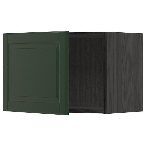 METOD Seinäkaappi, musta/Bodbyn tummanvihreä, 60x40 cm