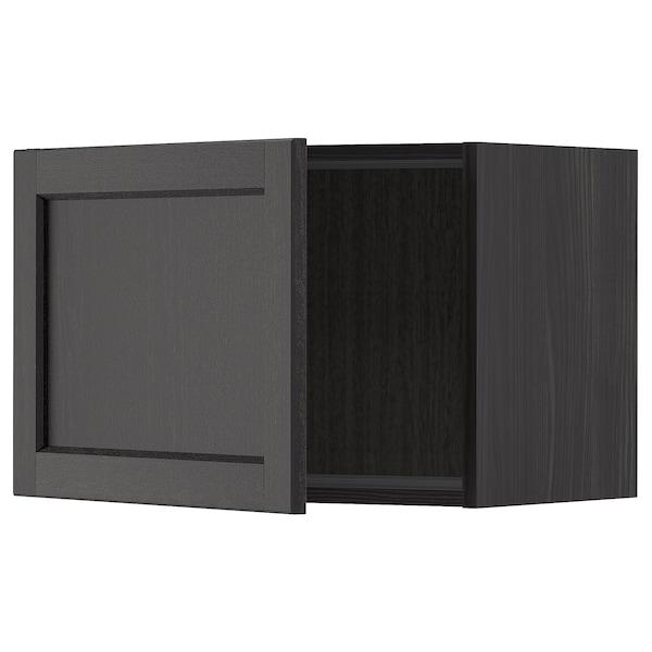 METOD Seinäkaappi, musta/Lerhyttan mustaksi petsattu, 60x40 cm