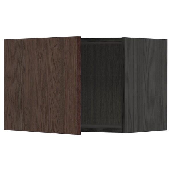 METOD Seinäkaappi, musta/Sinarp ruskea, 60x40 cm