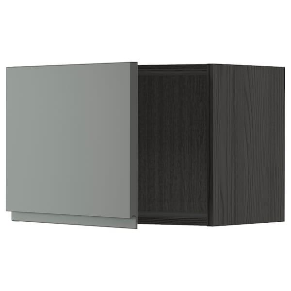 METOD Seinäkaappi, musta/Voxtorp tummanharmaa, 60x40 cm