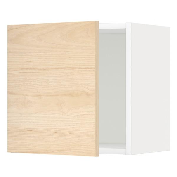 METOD Seinäkaappi, valkoinen/Askersund vaalea saarnikuvio, 40x40 cm