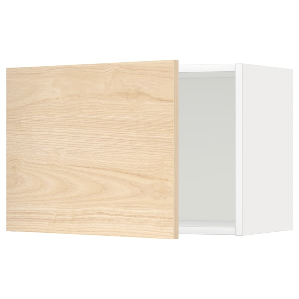 METOD Seinäkaappi, valkoinen/Askersund vaalea saarnikuvio, 60x40 cm