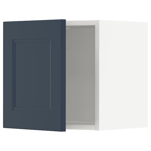 METOD Seinäkaappi, valkoinen Axstad/matta sininen, 40x40 cm