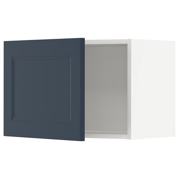 METOD Seinäkaappi, valkoinen Axstad/matta sininen, 60x40 cm
